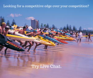 live chat gives you a competitive edge